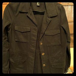 Black Forever 21 Button Up Jacket